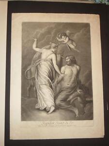 """"""" Jupiter, Juno & Jo """", Eau-forte époque 18ème. Chaud Et Coupe-Vent"""