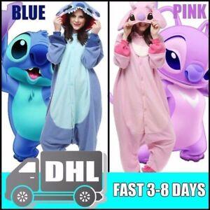 87cbe44bd107 Image is loading Hot-adult-kigurumi-pajamas-pyjamas-onesie-blue-stitch-