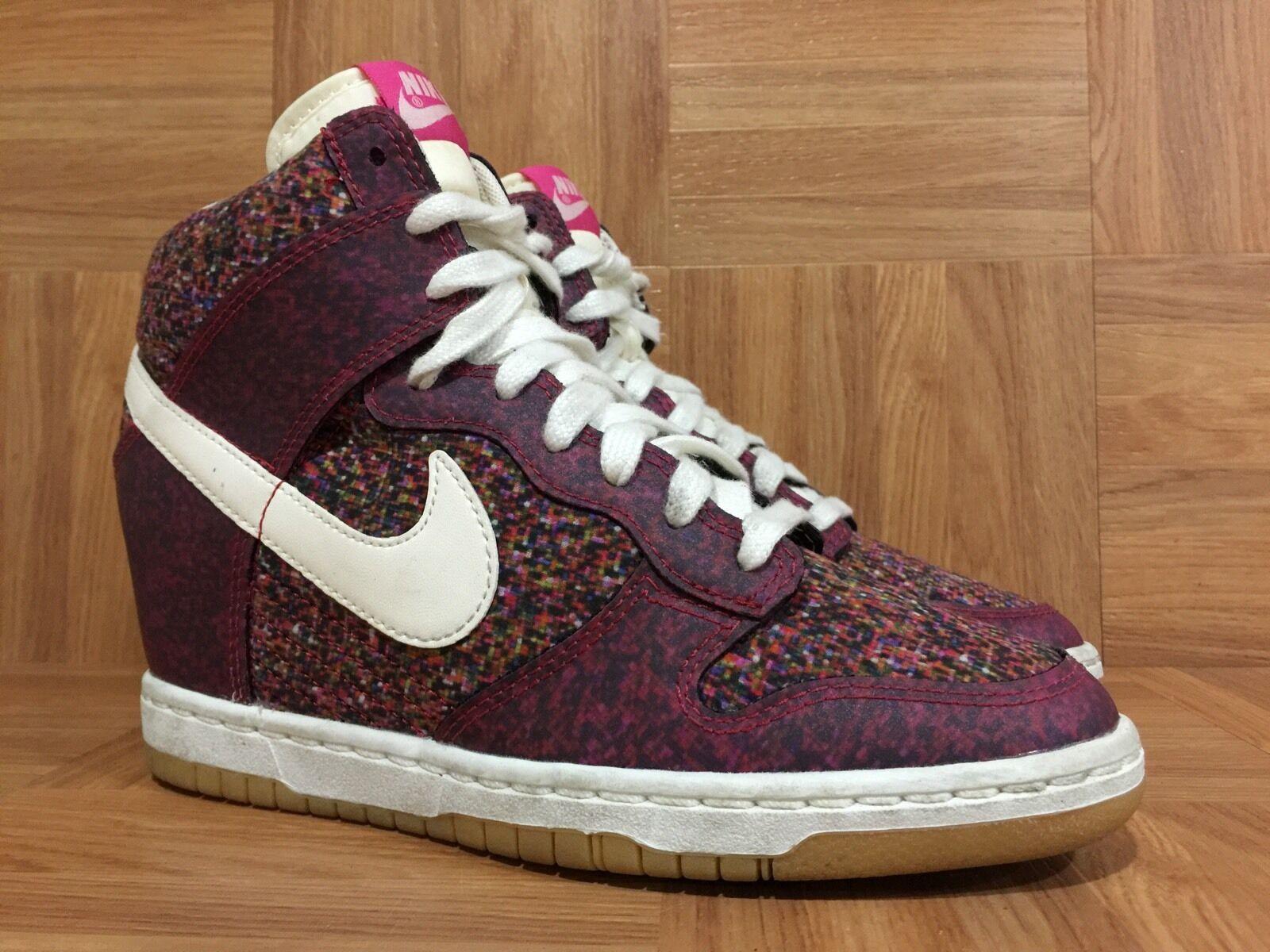 save off 4d583 4519a Nike Dunk Dunk Dunk Sky High Sneaker Wedge Liberty Digital Floral Pink 6  540859