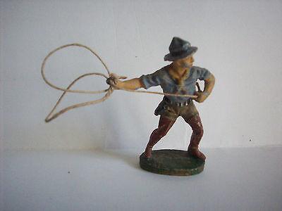 Frugale Elastolin Cowboy Con Lazo