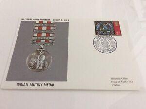 Commemorative Cover Indian Mutiny Médaille Nam Groupe 5#8 17/11/71-afficher Le Titre D'origine Apparence éLéGante