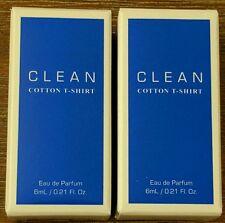 2 Pack Clean Cotton T-Shirt Mini 6 ml / 0.21 oz Eau de Parfum Splash Minis