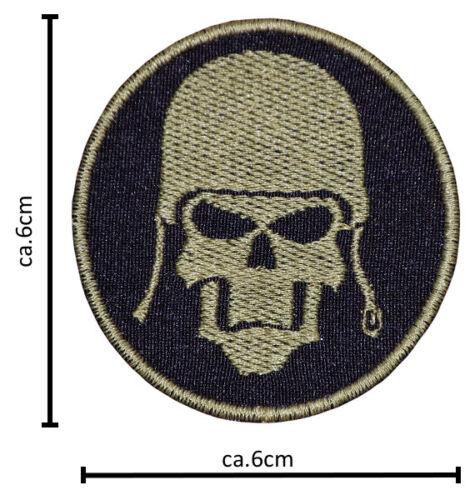 Militär Schädel Patches Aufbügler Aufnäher Abzeichen Bügelbild Aufnäherbild