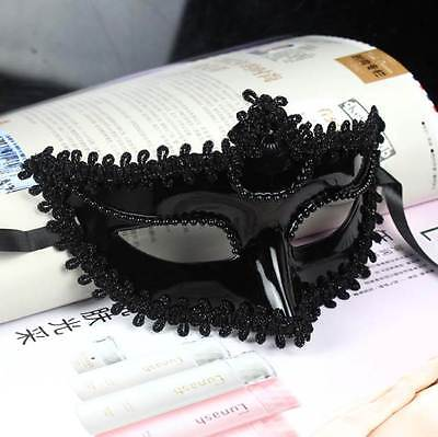 Black Masquerade Venetian Mask  Christmas New Year Eve costume party