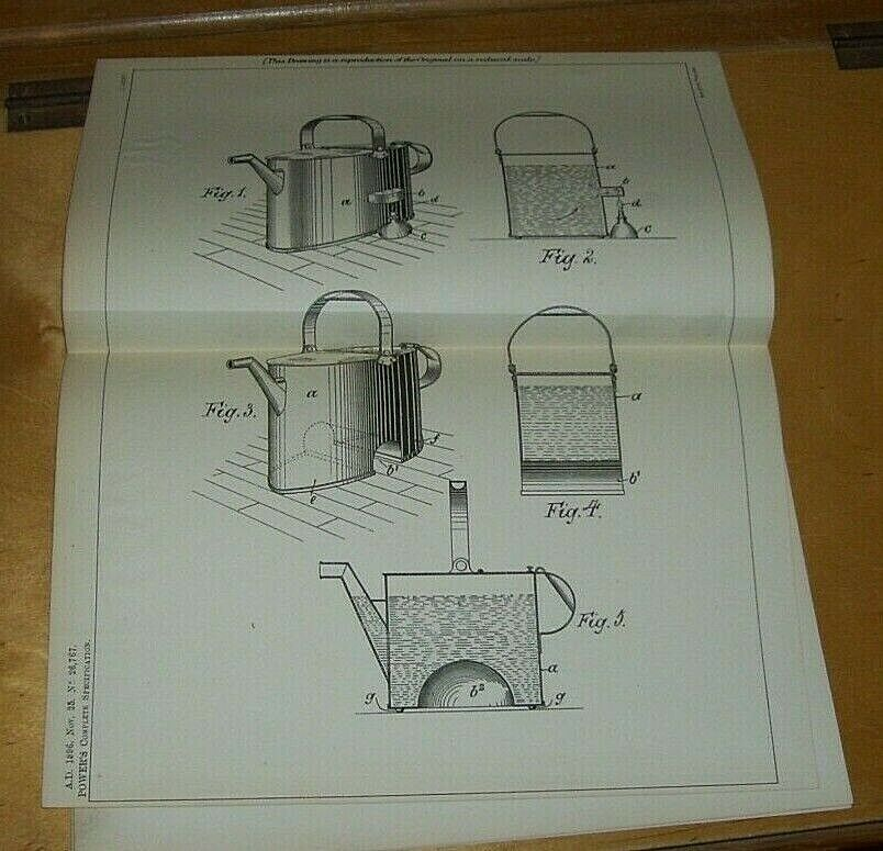 IMPROVEMENTS IN CONSTRUCTION OF WATERERING CANS PATENT POWER LONDON 1896
