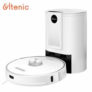 Ultenic T10 Laser Robot Aspirateur Nettoyeur,5en1, 3kPa, Base Auto-vidage, Tapis