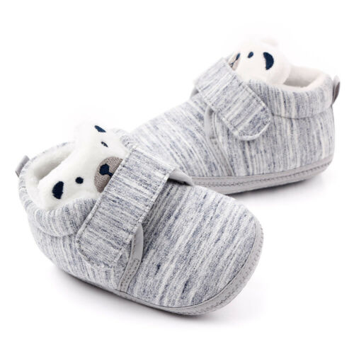 Newborn Baby Boots Shoes Infant Girls Boys Cartoon Soft Sole First Walkers Shoes