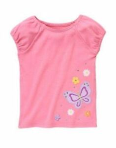 NWT-Gymboree-Girls-Butterfly-Blossoms-Pink-Tee-Size-7-amp-8