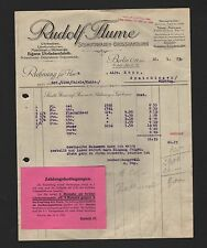 BERLIN, Rechnung 1925, Rudolf Flume Schmuckwaren-Grosshandlung