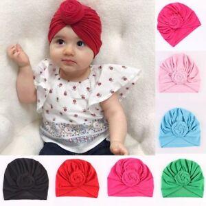 281104efd99 Baby Top Knot Turban Bun Hat Twist Flower Headwear Newborn Toddler ...