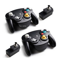 2PCS Nintendo GameCube WaveBird Controller With Receiver For Wii / Gamecube NGC