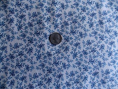 Scrap Happy Quilt Fabric Out Of Print Reproduction Premium Cotton Navy Blue
