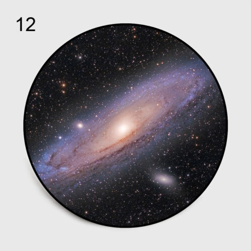 Round 3D Nebula Galaxy Non-slip Livingroom Kitchen Bathroom Floor Mat Rug Carpet