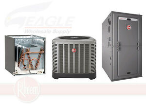 Rheem 95 84 000 btu gas furnace 3 ton 13 seer a c ebay for 17000 btu window air conditioner