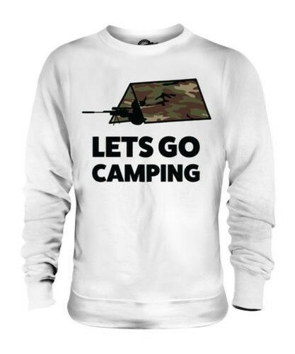 LETS GO CAMPING UNISEX SWEATER TOP GIFT GAMING