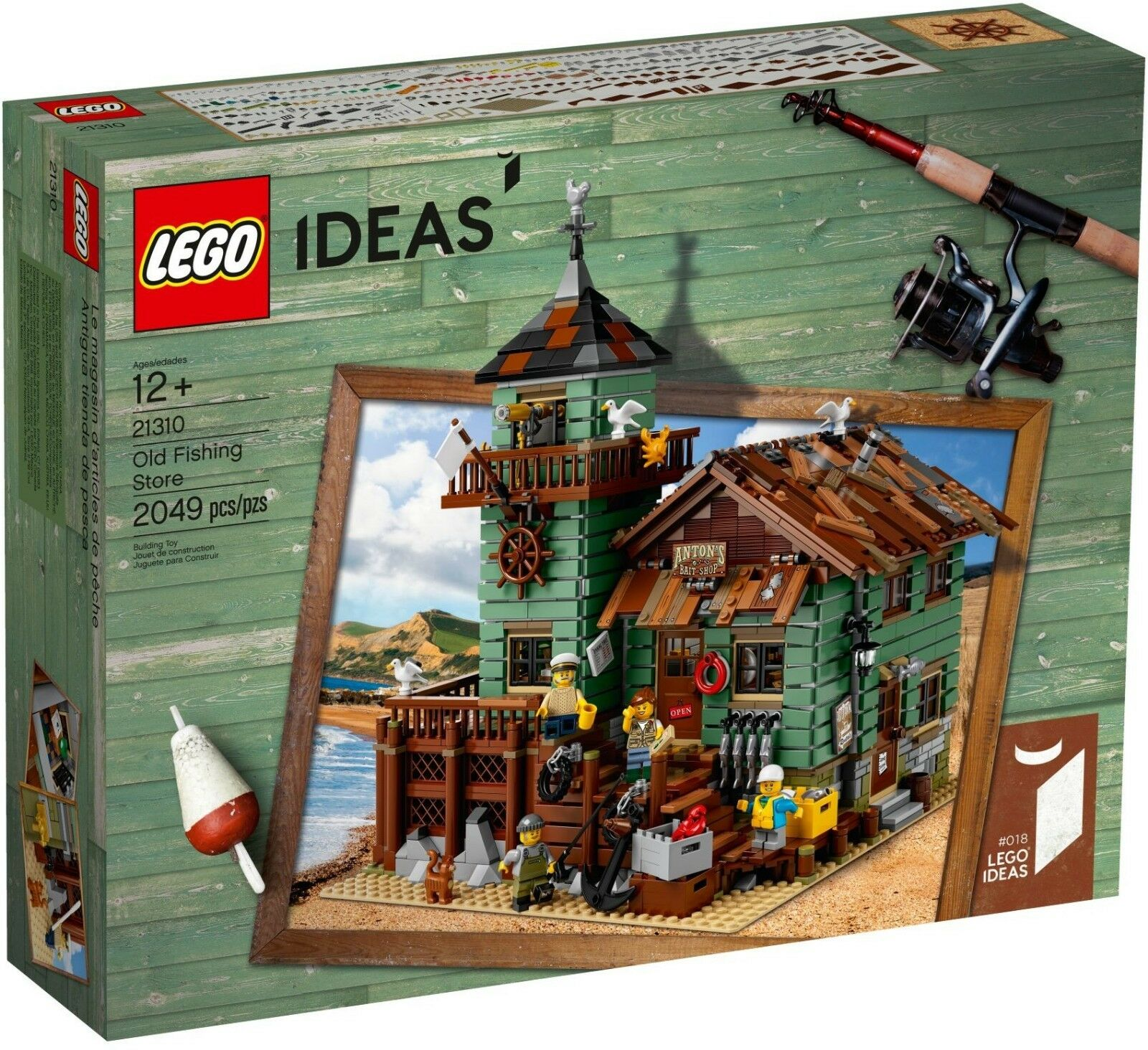 LEGO  21310 Old Fishing Store Ideas captain fisheruomo fisherdonna seagull  forma unica