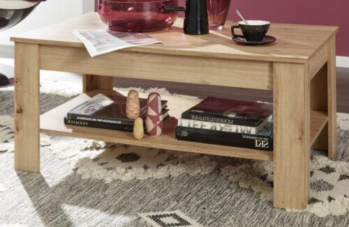 Couchtisch Eiche Asteiche Beistelltisch mit Ablage Wohnzimmer Sofa Kaffee Tisch