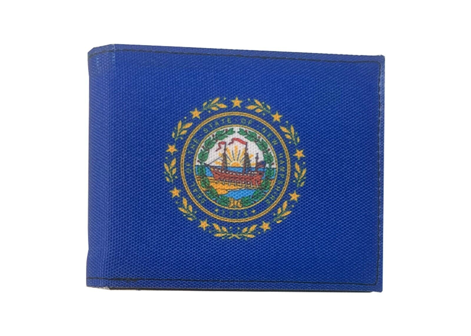 New Hampshire Flag Canvas Folding Billfold Wallet United States NH Brand New USA