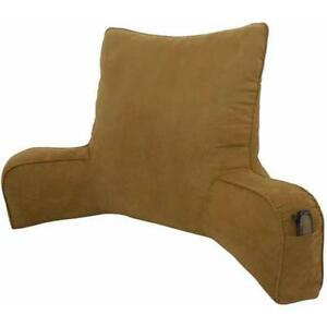 Suede solid color oversized bedrest lounger pillow plush for Bed lounge pillow walmart