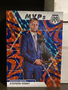 2019-20-Mosaic-STEPH-CURRY-Blue-Reactive-MVP-Insert-Prizm-Refractor-SP-Warriors