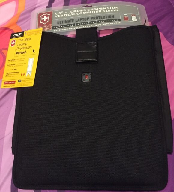 "Victorinox CS2 37313 Molded Cross Suspension Notebook Laptop Sleeve Case 15/"""
