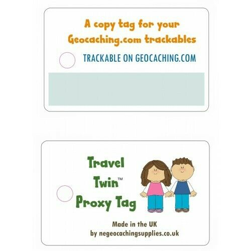 *TRAVEL TWIN TAG* PROXY TAG LOST TRACKABLE TAG FOR GEOCACHING TRACKABLE