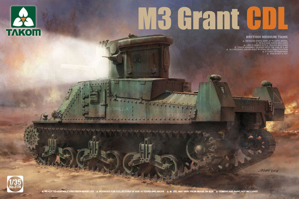 Takom 1 35 M3 Grant Canal Defence Light British Medium Tank