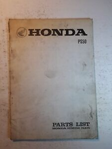 Honda 50 PS 50 parts list vintage motorcycle oem Genuine ...
