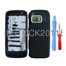 Black Fascia Full Housing Case Cover Bezel Shell Keypad for Nokia 5800 +Tools