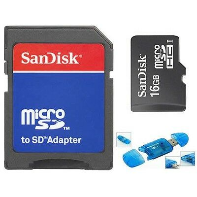 SanDisk 16GB Class4 Micro SD/Micro SDHC/TF Flash Memory Card w/USB Reader 16G