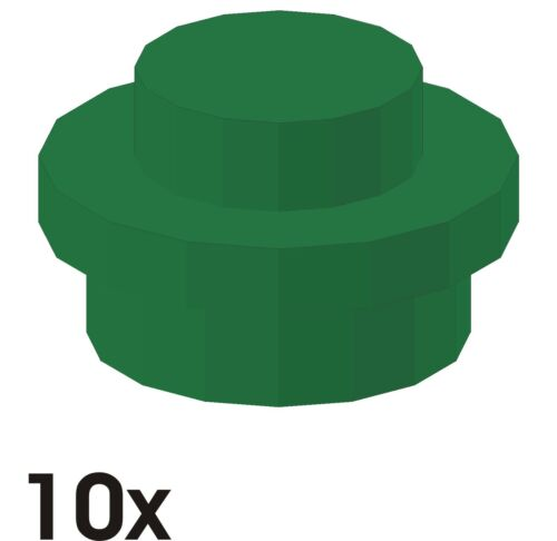 303 4073 10 Stück NEUE Platten 1x1 rund in grün