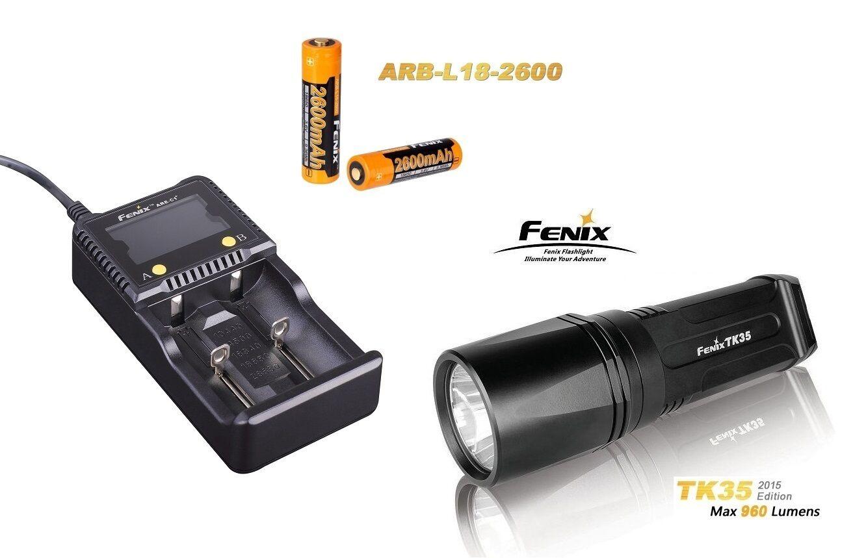 Fenix TK35 Mod.2015 Taschenlampe + ARE-C1+ Ladegerät + 2 Fenix ARB-L2 Akku´s OVP