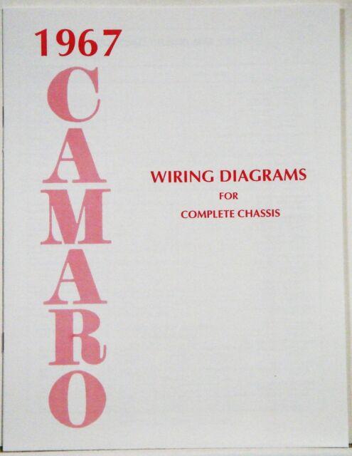 1967 Camaro Factory Wiring Diagram Manual Oe Quality  Usa