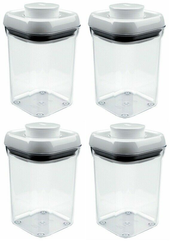 (4) ea Oxo 1071401 .9 Qt Pop Small Food Storage Containers