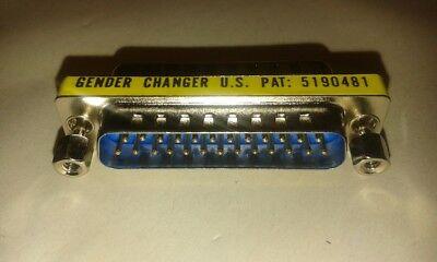 Rigoroso 3 X Db25 25 Pin Spina Per Donna Gender Changer Donna Convertitore Job Lotto #vid44-