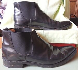 Details zu George Cox Chelsea Boots Stiefel Gr 42 43, Made in England