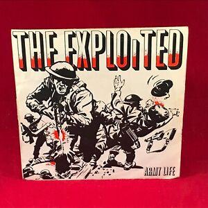 The Exploited Armée Life 1981 GB 17.8cm Vinyle Simple Excellent État Début