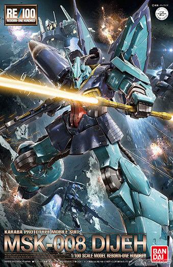 Bandai Gundam Reborn RE  100 MSK -008 Dijeh Zeta Gundam modellllerlerl Kit