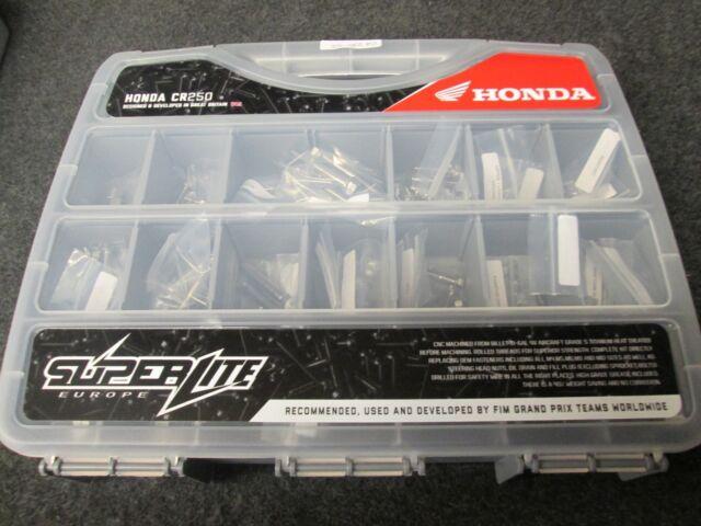 Honda CR250 1989 Superlite Titanio Completo Chasis, Motor, Plástico Tornillo Kit