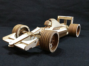 laser cut wooden formula 1 race car 3d model puzzle kit ebay. Black Bedroom Furniture Sets. Home Design Ideas
