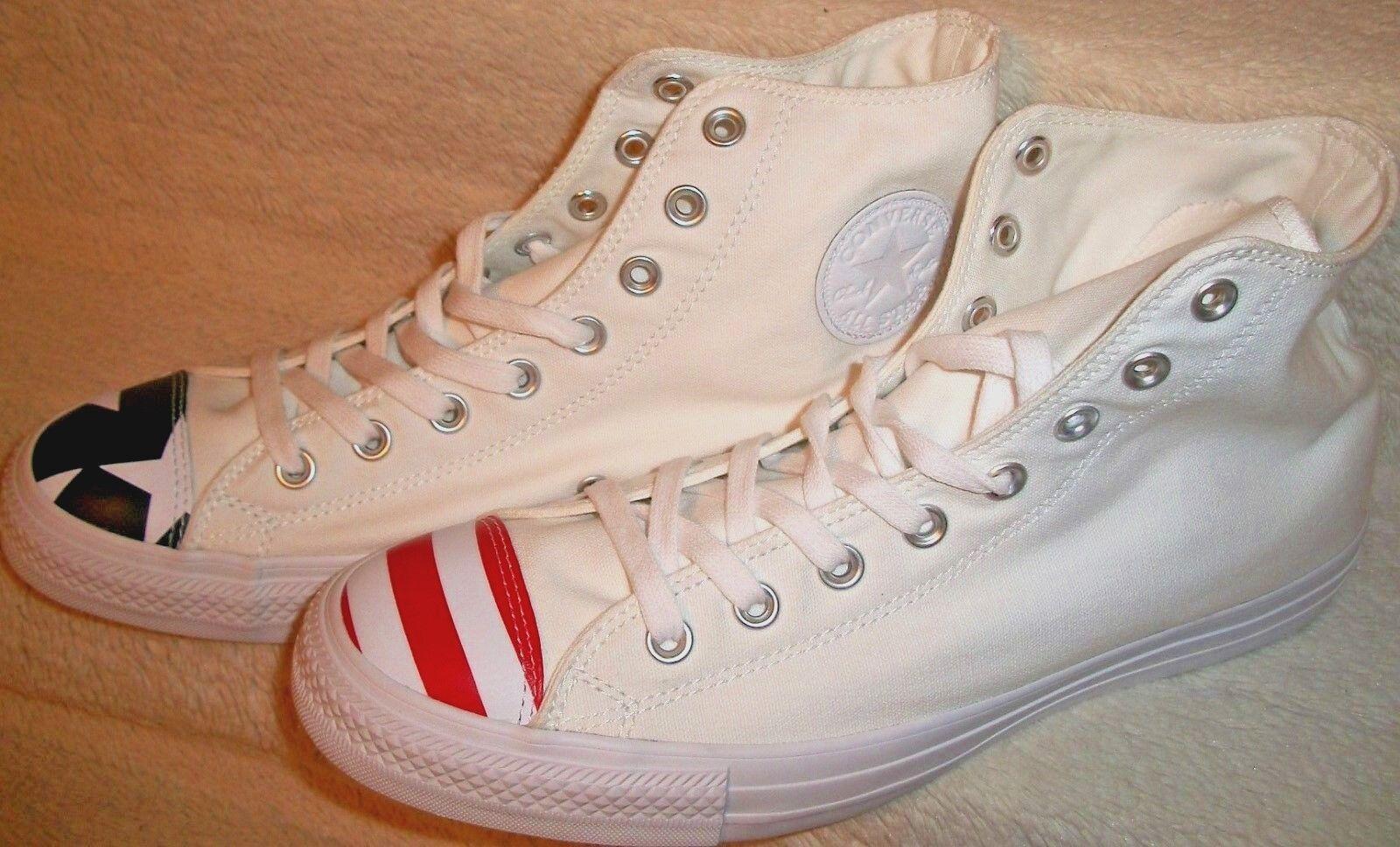 Converse 153911C CTAS White with Flag Toe Cap Men's 8- Women's 10