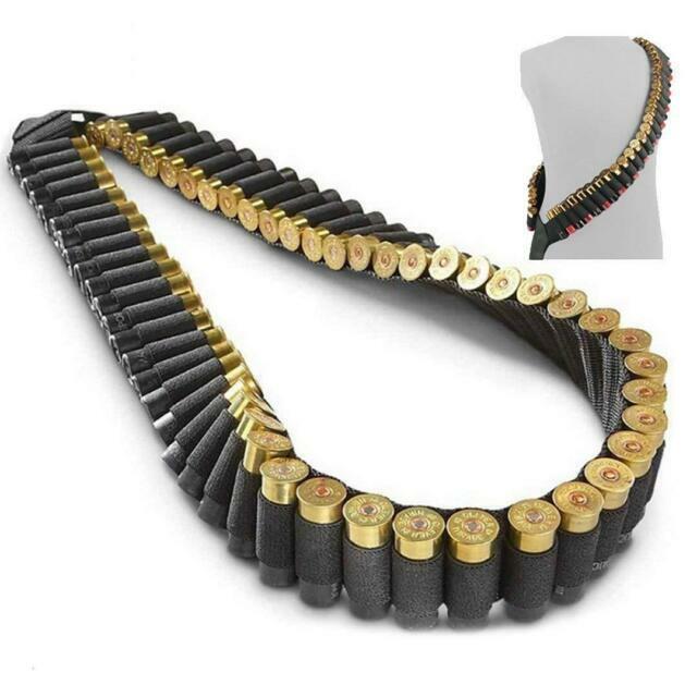 VISM Shotgun Padded Sling 12 Gauge 15 Shell Holder Pouch Sling Swivels Black