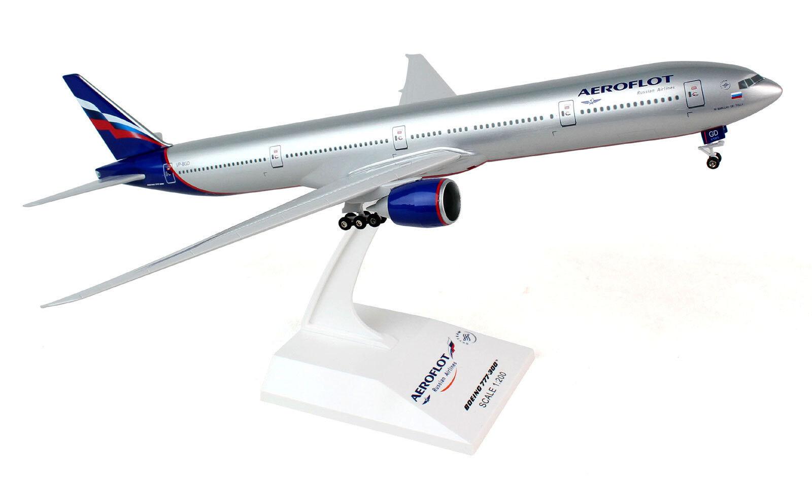 Aeroflot BOEING 777-300 1 200 skymarks aereo modello b777 skr807 b777