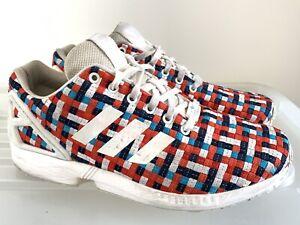 Adidas Originals ZX Flux Trainer Red Size 9 Depop