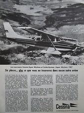 1967 PUB AVION CESSNA AIRCRAFT CESSNA SUPER SKYLANE TURBO SYSTEM FRENCH AD