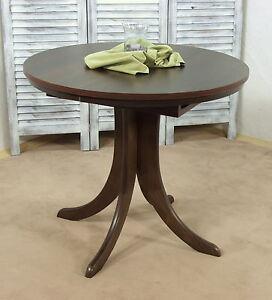esszimmertisch 90 125 cm nu baum ausziehbar rund k chentisch esstisch tisch ebay. Black Bedroom Furniture Sets. Home Design Ideas