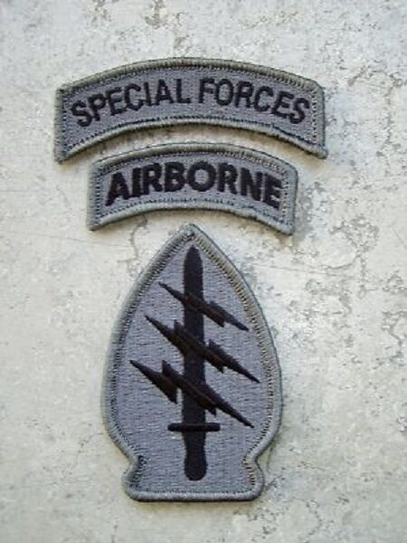 US ARMY Military SFG SPECIAL FORCES Airborne ACU UCP Uniform patch