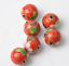 50//100pcs12mm Polissage Cloisonne Enamel Round Spacer Loose Bead Jewelry Finding