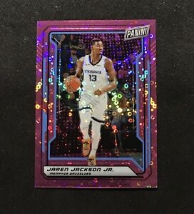 2019-Panini-National-VIP-37-JAREN-JACKSON-JR-Disco-Pink-Basketball-Card-039-d-50