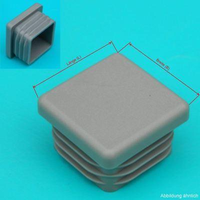 10 Lamellenstopfen □20x20mm Grau Ws 1,1-2,5mm Vierkant Für Quadratische Rohre Perfekte Verarbeitung Gastro & Nahrungsmittelgewerbe